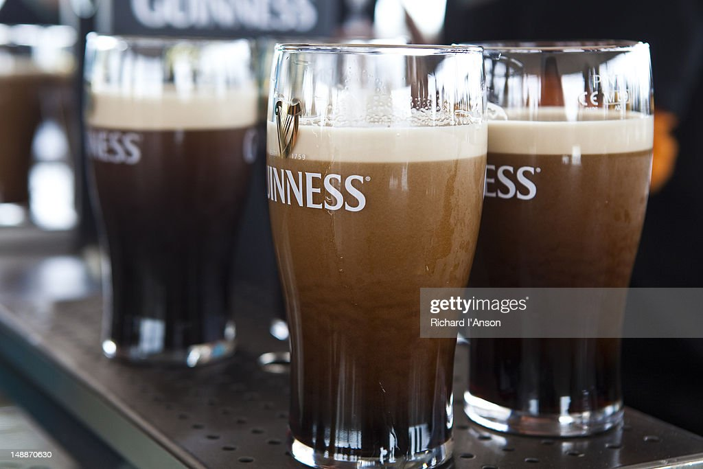 Pints of Guinness at Gravity Bar at Guinness Storehouse.