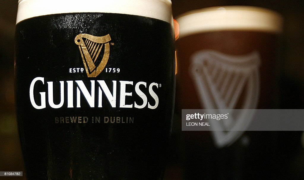 Pints of Guinness beer are pictured in London on May 9 2008 Diageo the alcoholic beverages giant said Friday it plans to overhaul its Guinness...