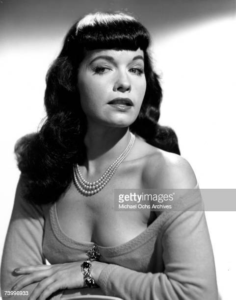 Pinup model Bettie Page poses for a portrait in circa 1952