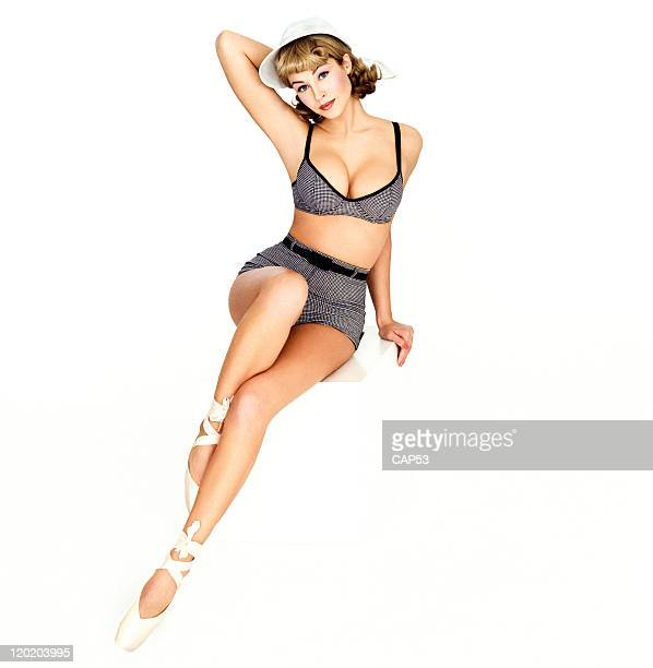 Pin-Up Style Woman Wearing Bathing Suit