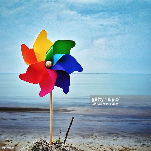 Pinwheel On Beach