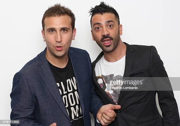 Pio and Amedeo attend at 'Quelli Che Il Calcio' TV Show on March 16 2014 in Milan Italy