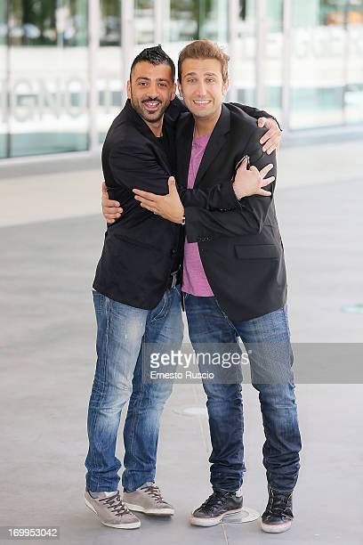 Pio and Amedeo attend the Taoduefilm Presents 2013/2014 TV and Cinema Programming at Maxxi Museum on June 5 2013 in Rome Italy
