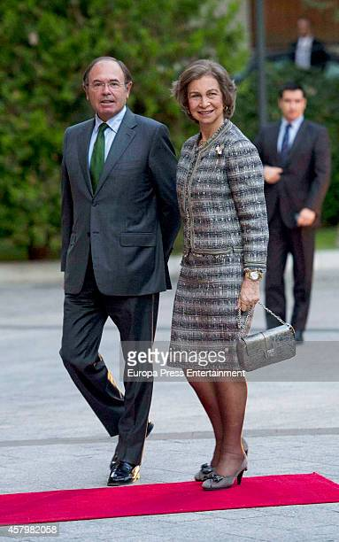Pio GarciaEscudero and Queen Sofia attend 'Inigo Alvarez de Toledo' prize ceremony on October 27 2014 in Madrid Spain
