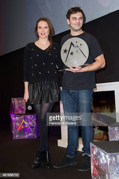 Pio Marmai and Anna Girardot attend the closing ceremony of the 18th L'Alpe D'Huez International Comedy Film Festival in l'Alpe d'Huez France