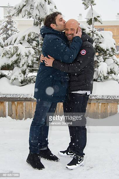 Pio Marmai and Franck Gastambide pose during the photocall for 'Toute premiere fois' during the 18th L'Alpe D'Huez International Comedy Film Festival...