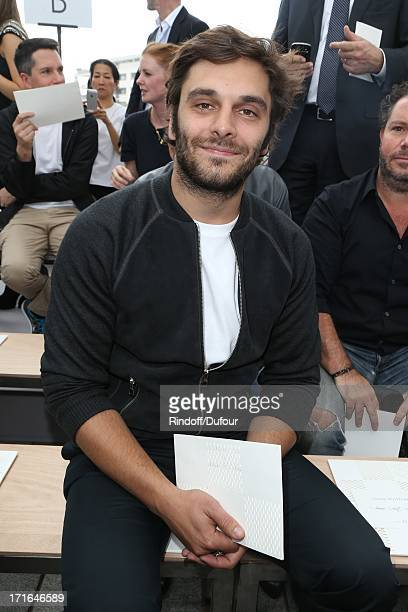Pio Marmai attends Louis Vuitton Menswear Spring/Summer 2014 Show As Part Of The Paris Fashion Week on June 27 2013 in Paris France
