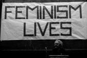 Pioneer feminist Florence Luscomb speaks at Radcliffe College Cambridge Massachusetts 1971