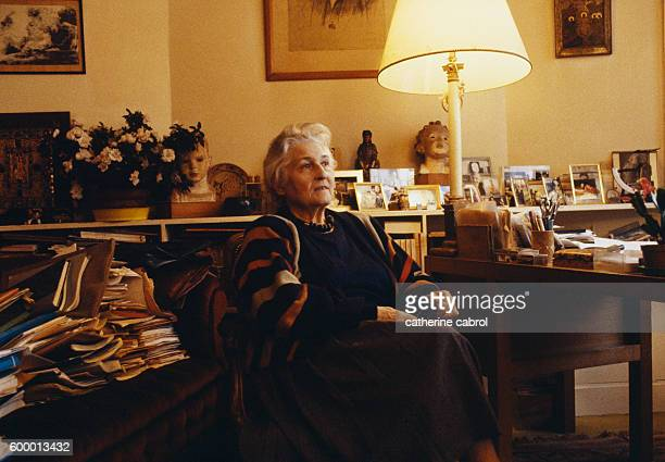 Pioneering French child psychoanalyst Françoise Dolto at home