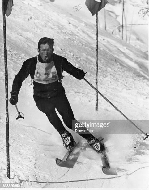 Pioneers' Terje Overland Denver ace en route to victory in slalom Credit Denver Post
