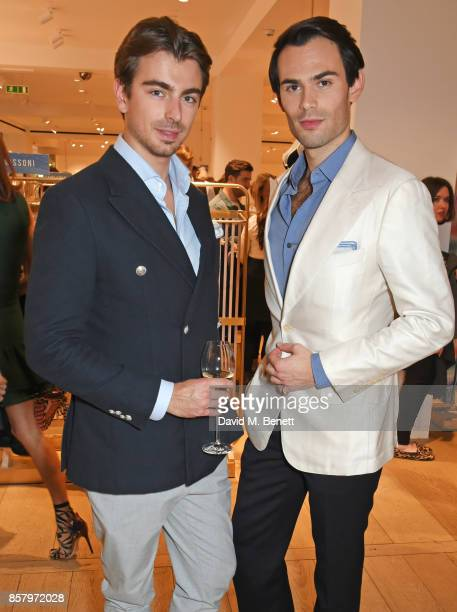 Piotr Krzymowski and Mark Francis Vandelli attend the launch of the new Lady Garden limited edition tshirts designed by Naomi Campbell Cara...
