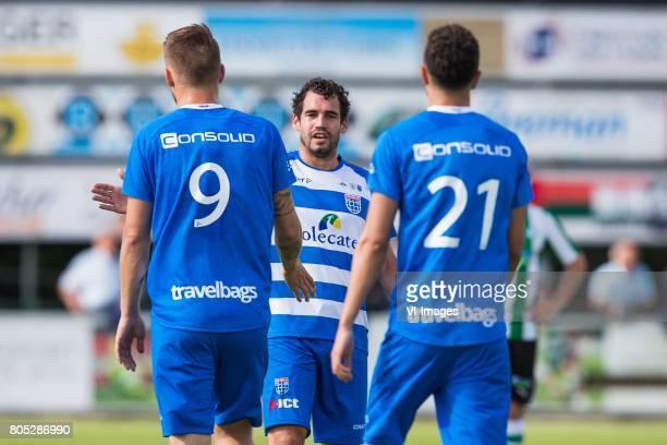 Piotr Parzyszek of PEC Zwolle Dirk Marcellis of PEC Zwolle Younes Namli of PEC Zwolleduring the friendly match between sc Genemuiden and PEC Zwolle...