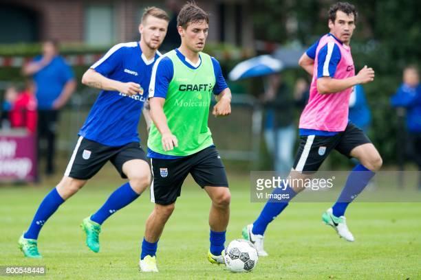 Piotr Parzyszek of PEC Zwolle Erik Bakker of PEC Zwolle Dirk Marcellis of PEC Zwolleduring a training session at Sportpark De Elshof on June 24 2017...
