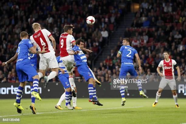 Piotr Parzyszek of PEC Zwolle Kingsley Ehizibue of PEC Zwolle Matthijs de Ligt of Ajax Klaas Jan Huntelaar of Ajax Dirk Marcellis of PEC Zwolle Bram...