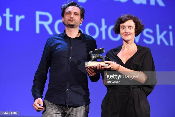 Piotr Rosolowski and Elwira Niewiera receive the Best Documentary on Cinema Award for 'The Prince and the Dybbuk' during the Award Ceremony of the...
