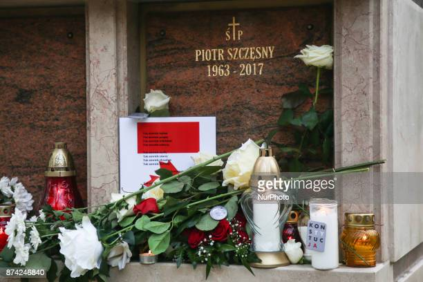 Piotr Szczesny's funeral at Salwator cemetery in Krakow Poland on 14 November 2017 Piotr Szesny age 54 set himself on fire on 19th October 2017 in...