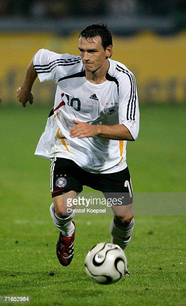 Piotr Trochowski of Germany runs with the ball during the Under 21 friendly match between Germany and the Netherlands at the Emsland Stadium on...