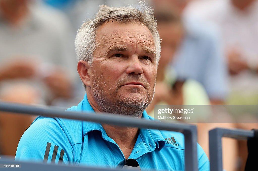 <b>Piotr Wozniacki</b>, father of Caroline Wozniacki of Denmark, looks on during <b>...</b> - piotr-wozniacki-father-of-caroline-wozniacki-of-denmark-looks-on-her-picture-id454439118