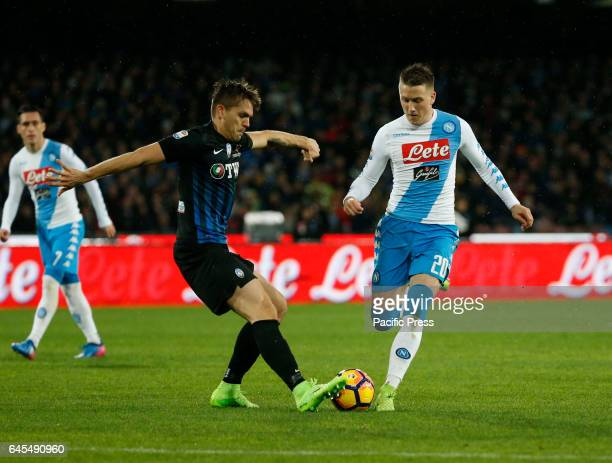 Piotr Zielinski during the Italian Serie A soccer match between SSC Napoli and Atalanta at the San Paolo stadium Atalanta beats Napoli at San Paolo...