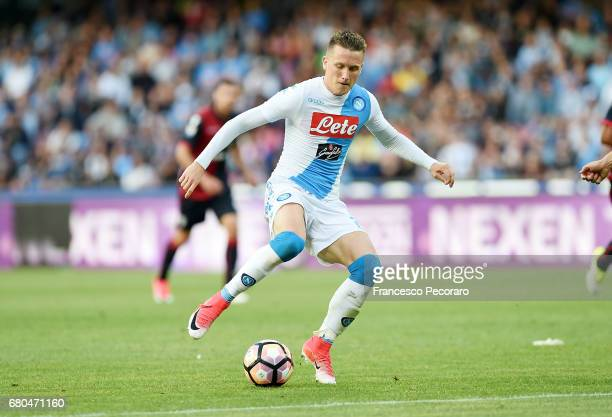 Piotr Zielinski during the Serie A match between SSC Napoli and Cagliari Calcio at Stadio San Paolo on May 6 2017 in Naples Italy