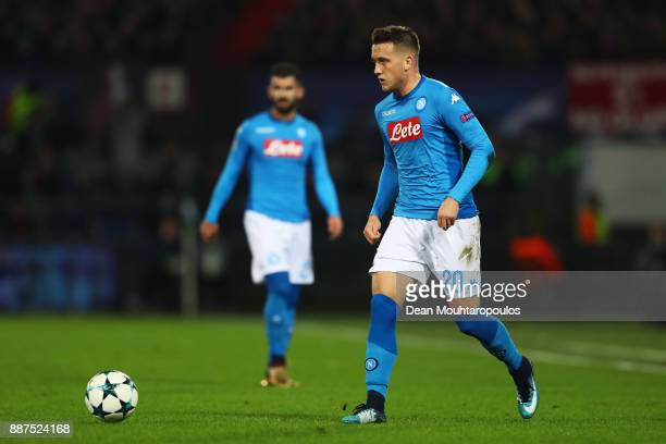 Piotr Zielinski of Napoli in action during the UEFA Champions League group F match between Feyenoord and SSC Napoli at Feijenoord Stadion on December...