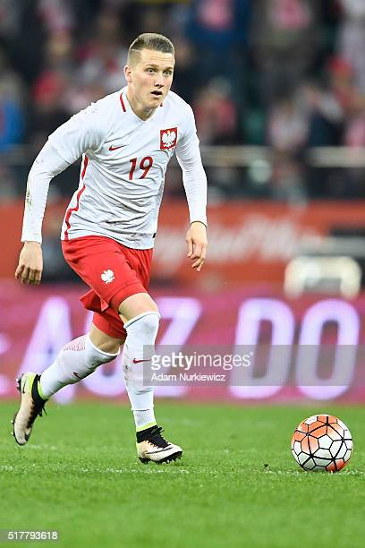 Piotr Zielinski of Poland controls the ball during the international friendly soccer match between Poland and Finland at the Municipal Stadium on...
