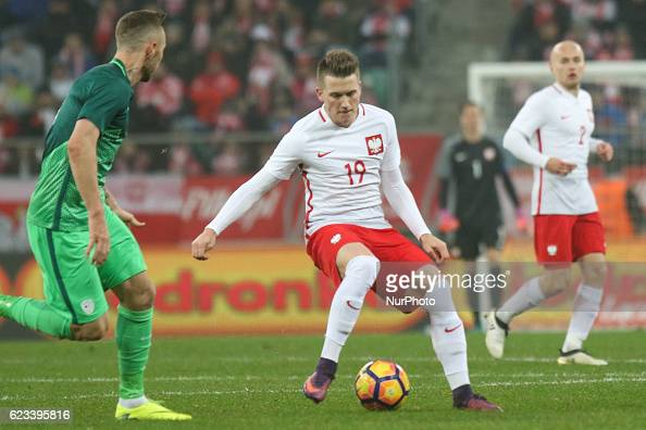 Piotr Zielinski of Poland during the international friendly football match Poland vs Slovenia on November 14 2016 in Wroclaw