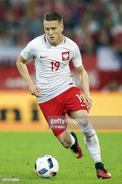 Piotr Zielinski of Poland during the International friendly match between Poland and Netherlands on June 1 2016 at the Gdansk Arena in Gdansk Poland