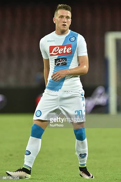 Piotr Zielinski of SSC Napoli during preseason friendly match between SSC Napoli and AS Monaco FC at San Paolo Stadium on August 7 2016 in Naples...