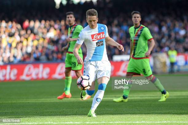 Piotr Zielinski of SSC Napoli during the Serie A TIM match between SSC Napoli and FC Crotone at Stadio San Paolo Naples Italy on 12 March 2017