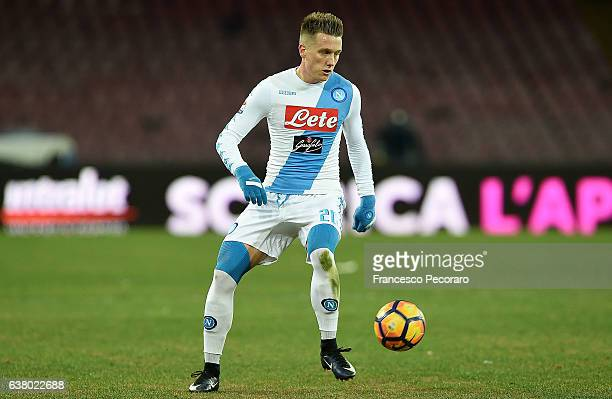 Piotr Zielinski of SSC Napoli in action during the Serie A match between SSC Napoli and UC Sampdoria at Stadio San Paolo on January 7 2017 in Naples...
