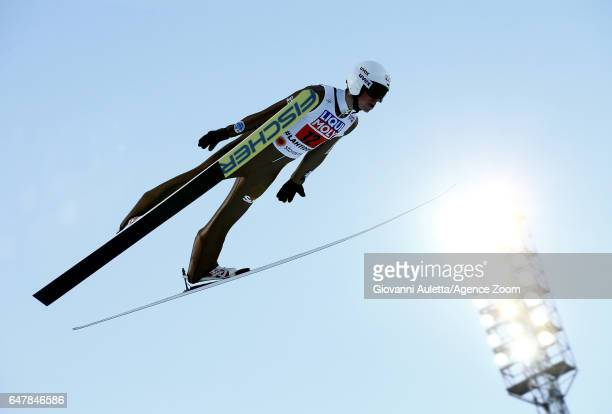 Piotr Zyla of Poland competes during the FIS Nordic World Ski Championships Men's Team Ski Jumping HS130 on March 4 2017 in Lahti Finland