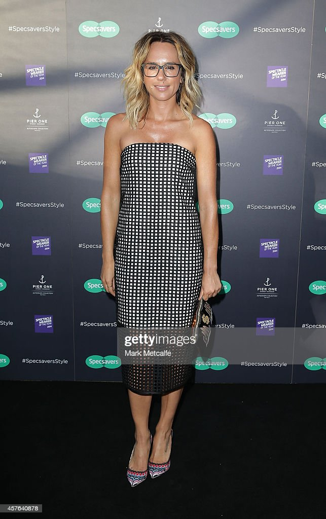 Pip Edwards arrives at Specsavers Fashion Show 2014 at Pier One Hotel, Sydney Harbour Bridge on October 22, 2014 in Sydney, Australia.