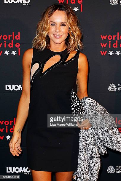 Pip Edwards arrives at the L'Uomo Vogue and Woolmark Company Gala and Exhibition to celebrate L'Uomo Vogue magazine's March Issue dedicated to...