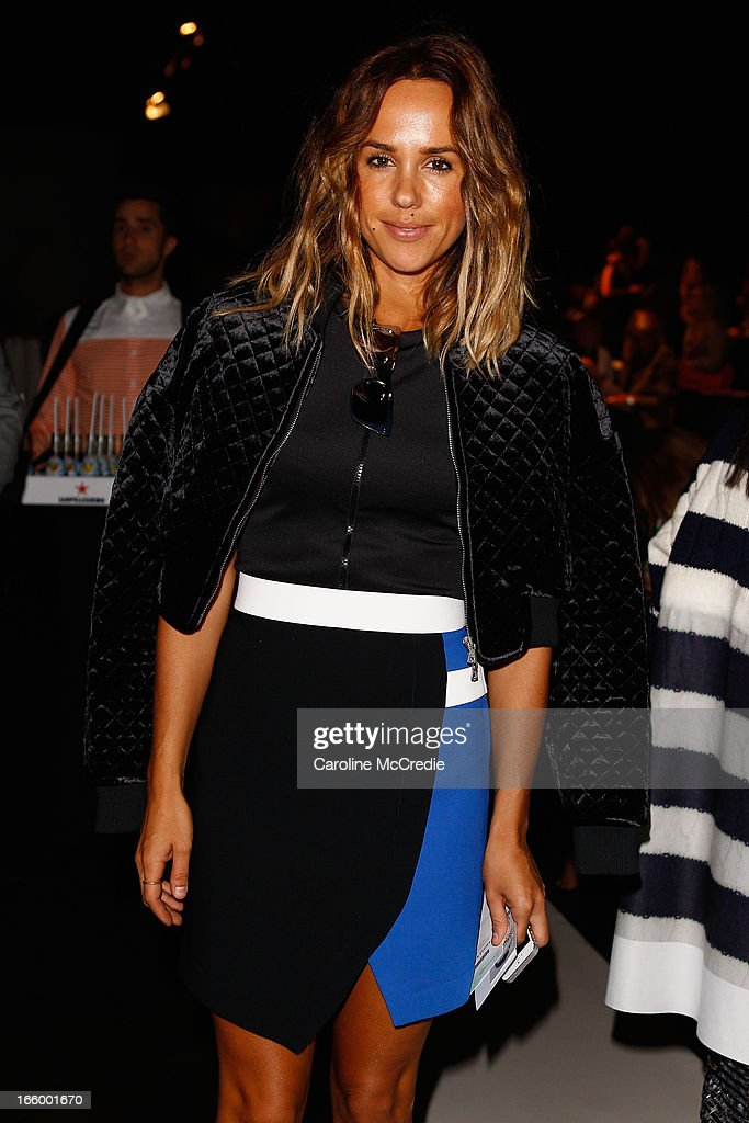 Pip Edwards attends the Camilla and Marc show during Mercedes-Benz Fashion Week Australia Spring/Summer 2013/14 at Carriageworks on April 8, 2013 in Sydney, Australia.