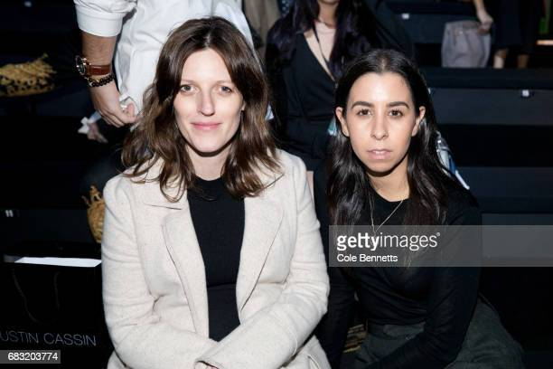 Pip Moriney and Monique Santos attends the Justin Cassin show at MercedesBenz Fashion Week Resort 18 Collections at Carriageworks on May 15 2017 in...