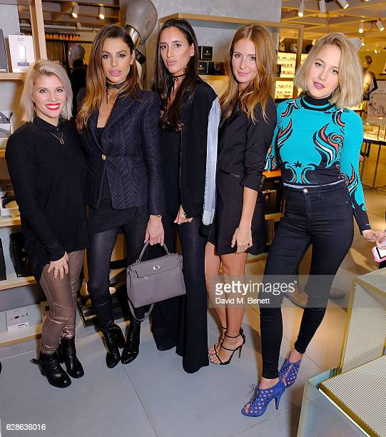Pip Taylor Misse Berqiri Lily Fortescue Millie Macintosh and Tess Ward attend as Taylor Morris Eyewear and The Morgan Motor Company present their...
