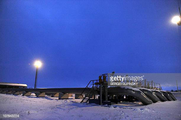 A pipeline is seen at the Russian gas compressor station in Sudzha near the RussianUkrainian border on January 11 2009 Russian gas giant Gazprom...