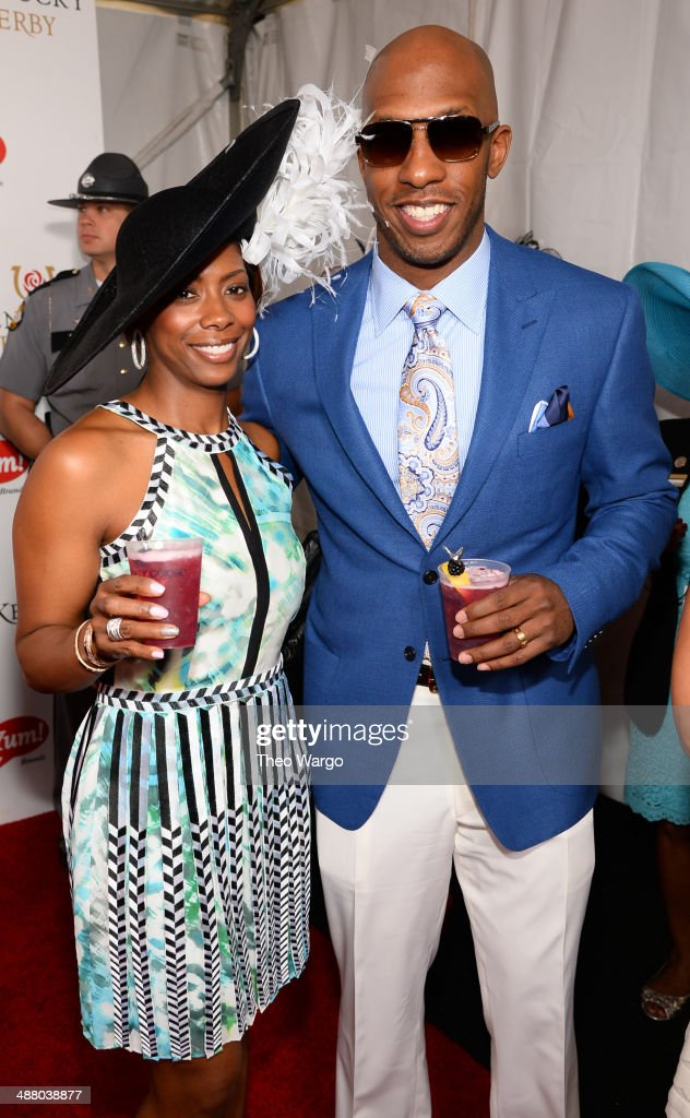 Piper and <a gi-track='captionPersonalityLinkClicked' href=/galleries/search?phrase=Chauncey+Billups&family=editorial&specificpeople=201508 ng-click='$event.stopPropagation()'>Chauncey Billups</a> at GREY GOOSE Lounge at 140th Kentucky Derby at Churchill Downs on May 3, 2014 in Louisville, Kentucky.