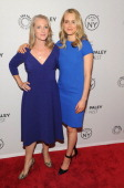 Piper Kerman and Taylor Schilling attend 'Orange Is the New Black' during 2013 PaleyFest Made In New York at The Paley Center for Media on October 2...