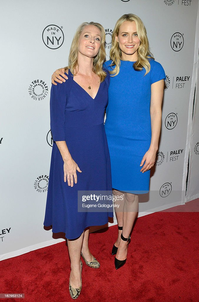 Piper Kerman and <a gi-track='captionPersonalityLinkClicked' href=/galleries/search?phrase=Taylor+Schilling&family=editorial&specificpeople=5852086 ng-click='$event.stopPropagation()'>Taylor Schilling</a> attends 'Orange Is the New Black' during 2013 PaleyFest: Made In New York at The Paley Center for Media on October 2, 2013 in New York City.