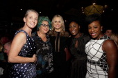 Piper Kerman Jenji Kohan Taylor Schilling guest and Uzo Aduba attend the 2013 WPA's Cocktails For A Cause at Loeb Central Park Boathouse on October 1...