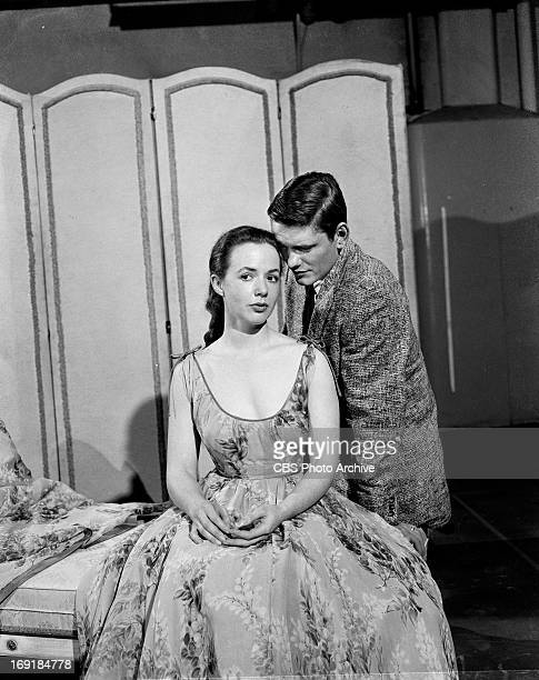 Piper Laurie and Dick York in the SEVEN LIVELY ARTS production of 'The Changing Ways of Love' Image dated October 24 1957