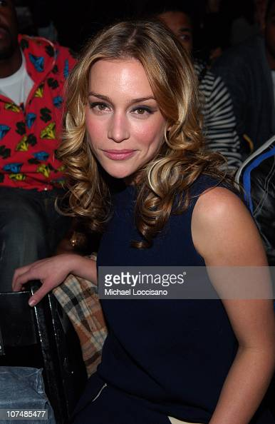 Piper Perabo during Mercedes Benz Fashion Week Fall 2007 GStar Front Row and Backstage at Gotham Hall in New York City New York United States