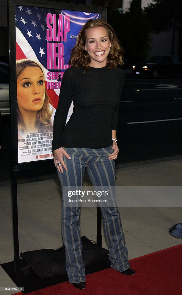 <a gi-track='captionPersonalityLinkClicked' href=/galleries/search?phrase=Piper+Perabo&family=editorial&specificpeople=240107 ng-click='$event.stopPropagation()'>Piper Perabo</a> during 'Slap Her...She's French' Premiere & After-Party at Academy of Motion Picture Arts and Sciences in Beverly Hills, California, United States.
