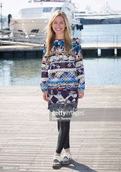 Piper Perabo poses during the 'The Fight' photocall at MIPTV on April 14 2015 in Cannes France
