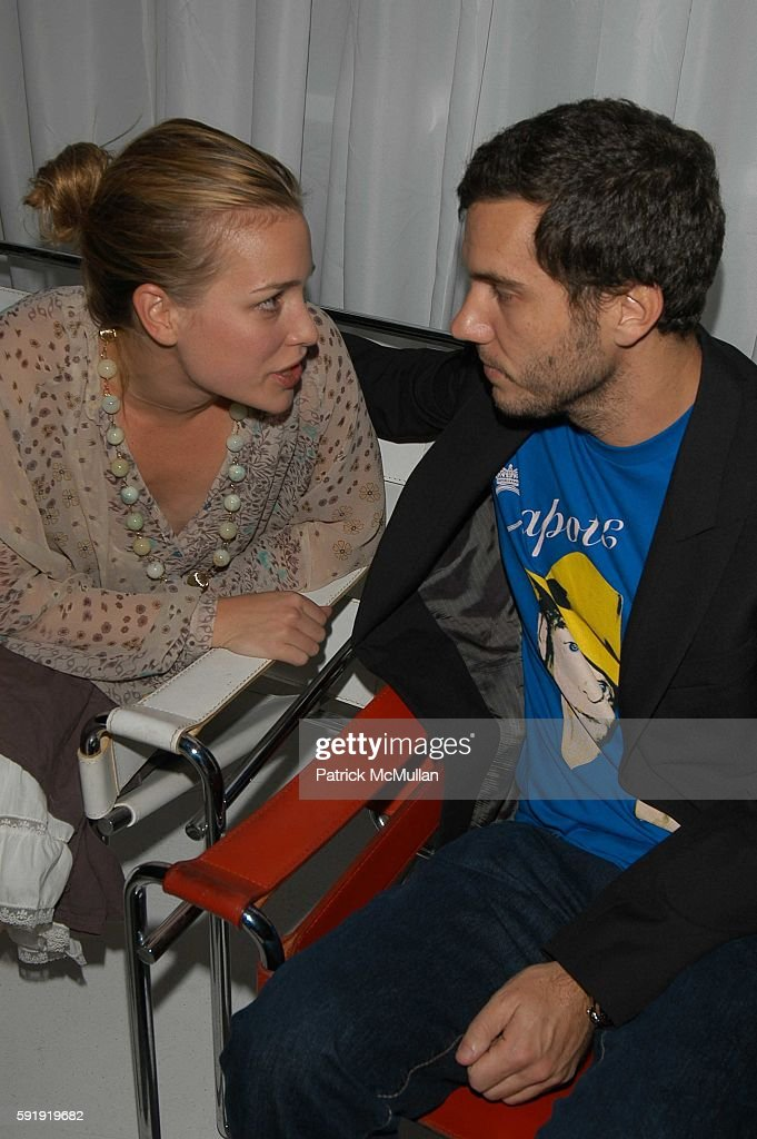 Piper Peralbo and Scott Sartiano attend SVEDKA Celebrates the Launch of Their New Ad Campaign at Peter White Studio on October 10 2005 in New York...