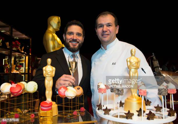 PiperHeidsieck Global Executive Director Benoit Collard and pastry chef Kamel Guechida attend the 89th Annual Academy Awards Governors Ball Preview...