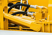 pipes and the hydraulic system of the tractor or excavator