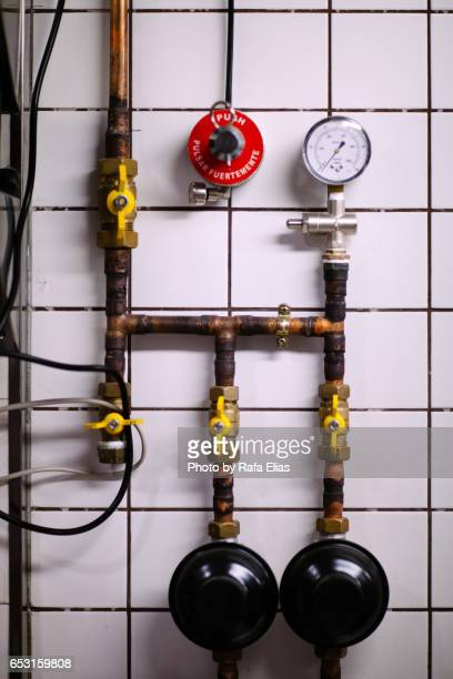 Pipes on the wall